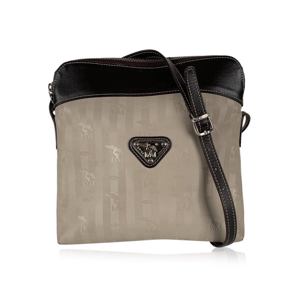 Maison Mollerus  Logo Vinyl Canvas Messenger Bag
