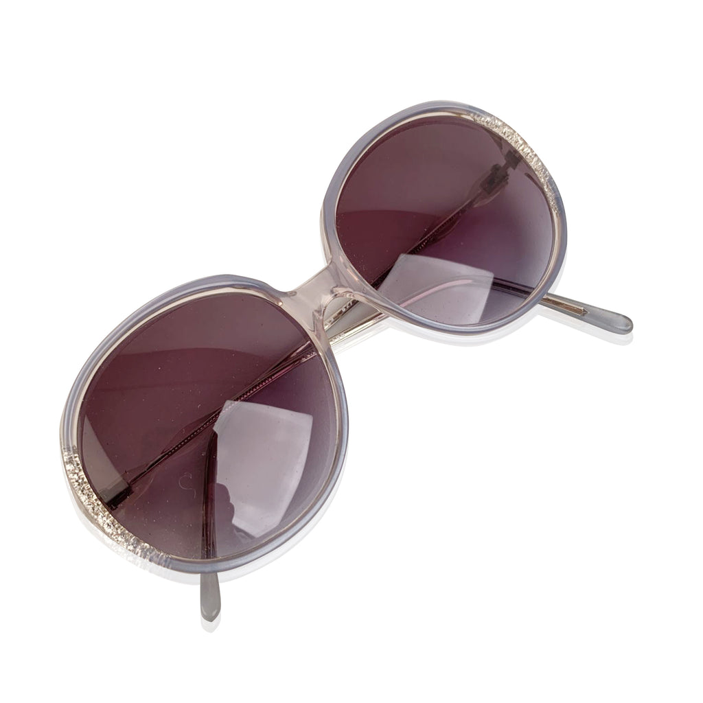 Vintage Round Womens Sunglasses Euroglass 2419 52-18 125mm Made in Italy