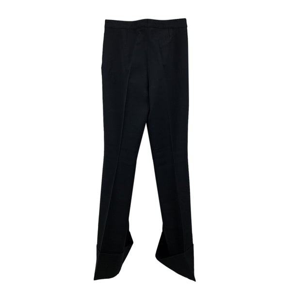 Stella McCartney Black Wool Wide Leg Trousers Size 40 IT