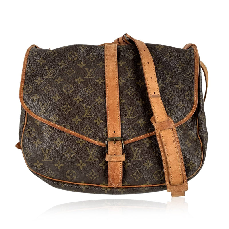Louis Vuitton Vintage Monogram Canvas Saumur 35 Crossbody Shoulder Bag