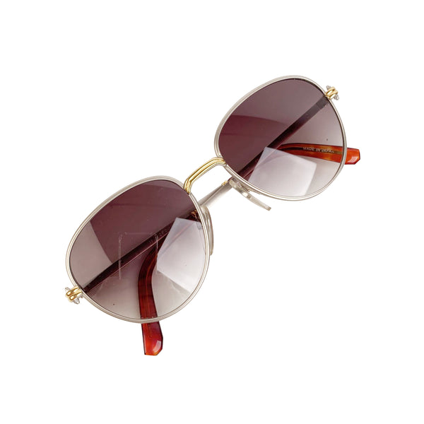 Gerald Genta Vintage Gold Plated Sunglasses New Classic 09 52-22 135mm