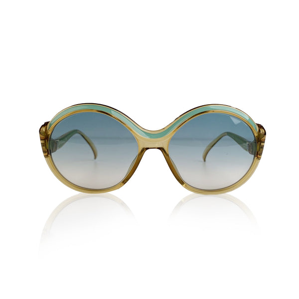 Christian Dior Vintage Green Round Optyl Sunglasses Mod 2078 56/17