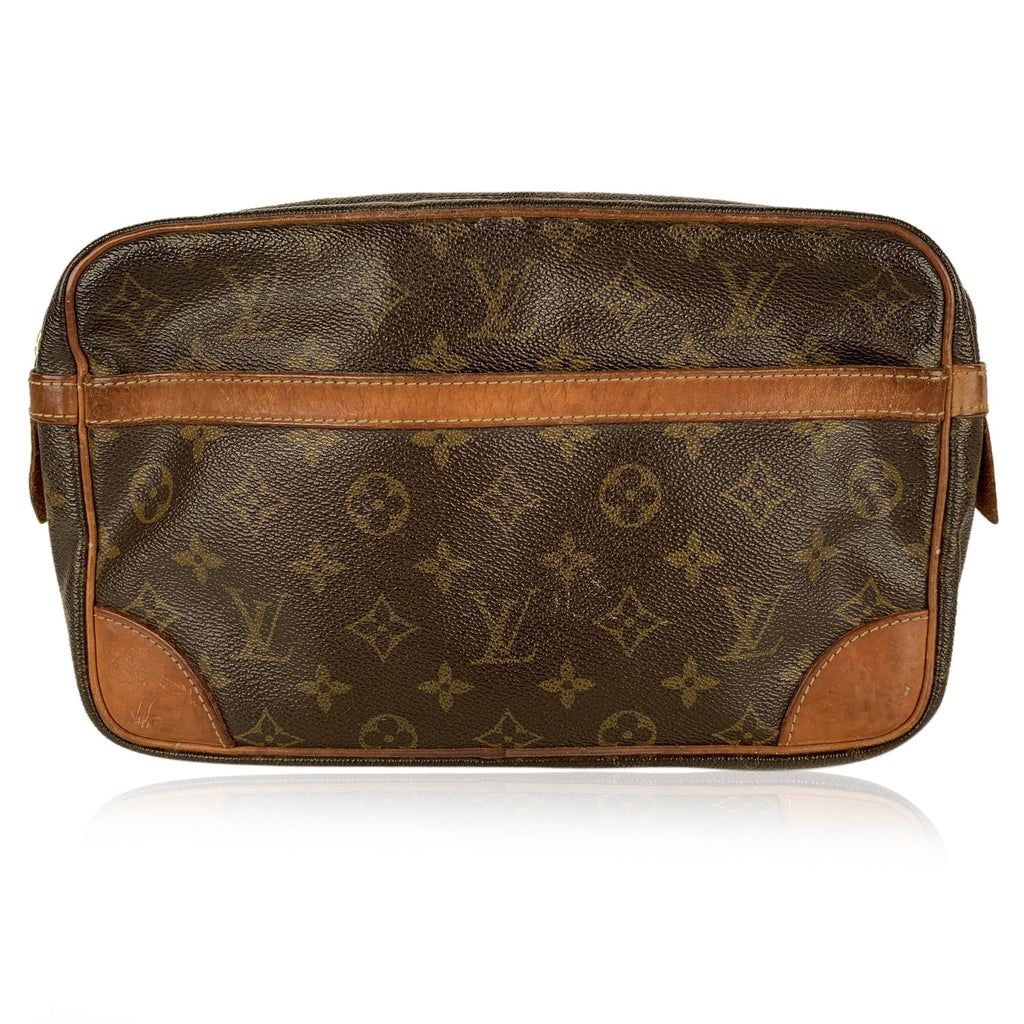 Louis Vuitton Monogram Compiegne 28 Clutch Pochette Cosmetic Bag