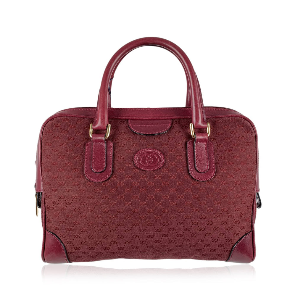 Gucci Vintage Monogram Canvas Satchel Bag