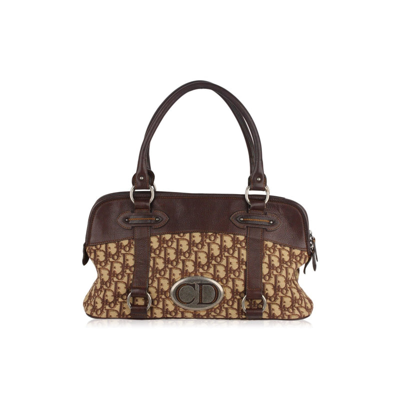Oblique Jacquard Tapestry Boston Bag