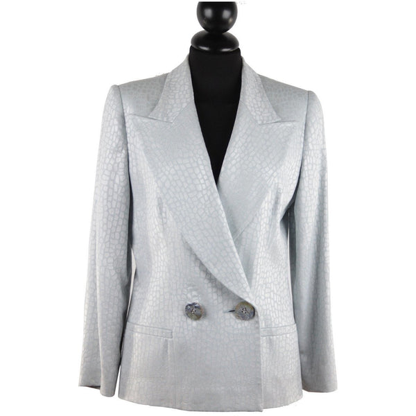 Gai Mattiolo Croc Look Double Breasted Blazer Jacket Size 42