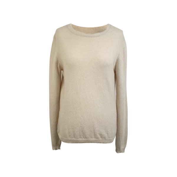 Prada Ivory Cashmere Long Sleeve Jumper Sweater Size 46