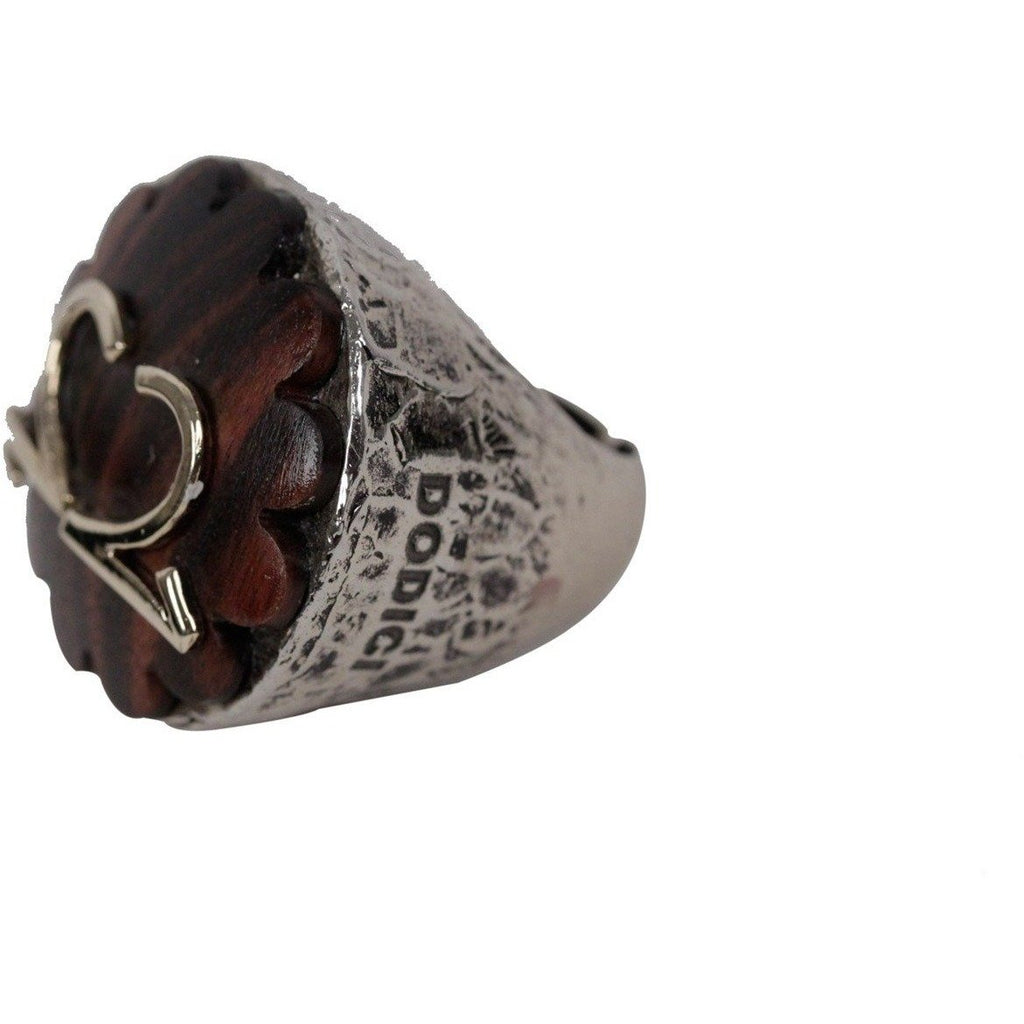 Dodici Silver and Wood Statement Ring