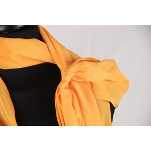 VIONNET Orange Pure Silk ONE SHOULDER TOP Single Sleeved SIZE 40