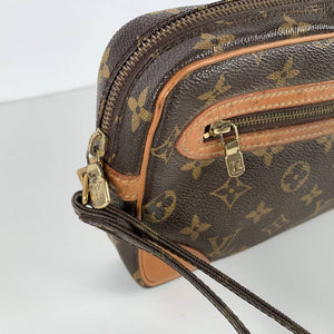 Louis Vuitton Vintage Monogram Marly Dragonne Clutch Pochette Bag