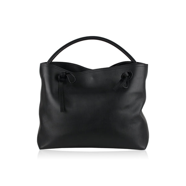 Maison Martin Margiela Line 11 Black Leather Tote Shoulder Bag