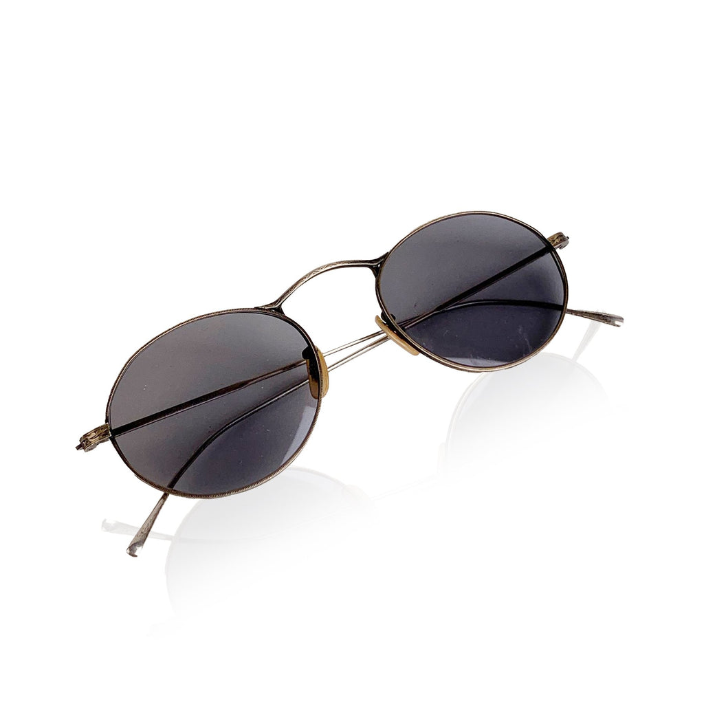 Oliver Peoples Vintage Circa 1987 Silver Metal Sunglasses M 4 XL