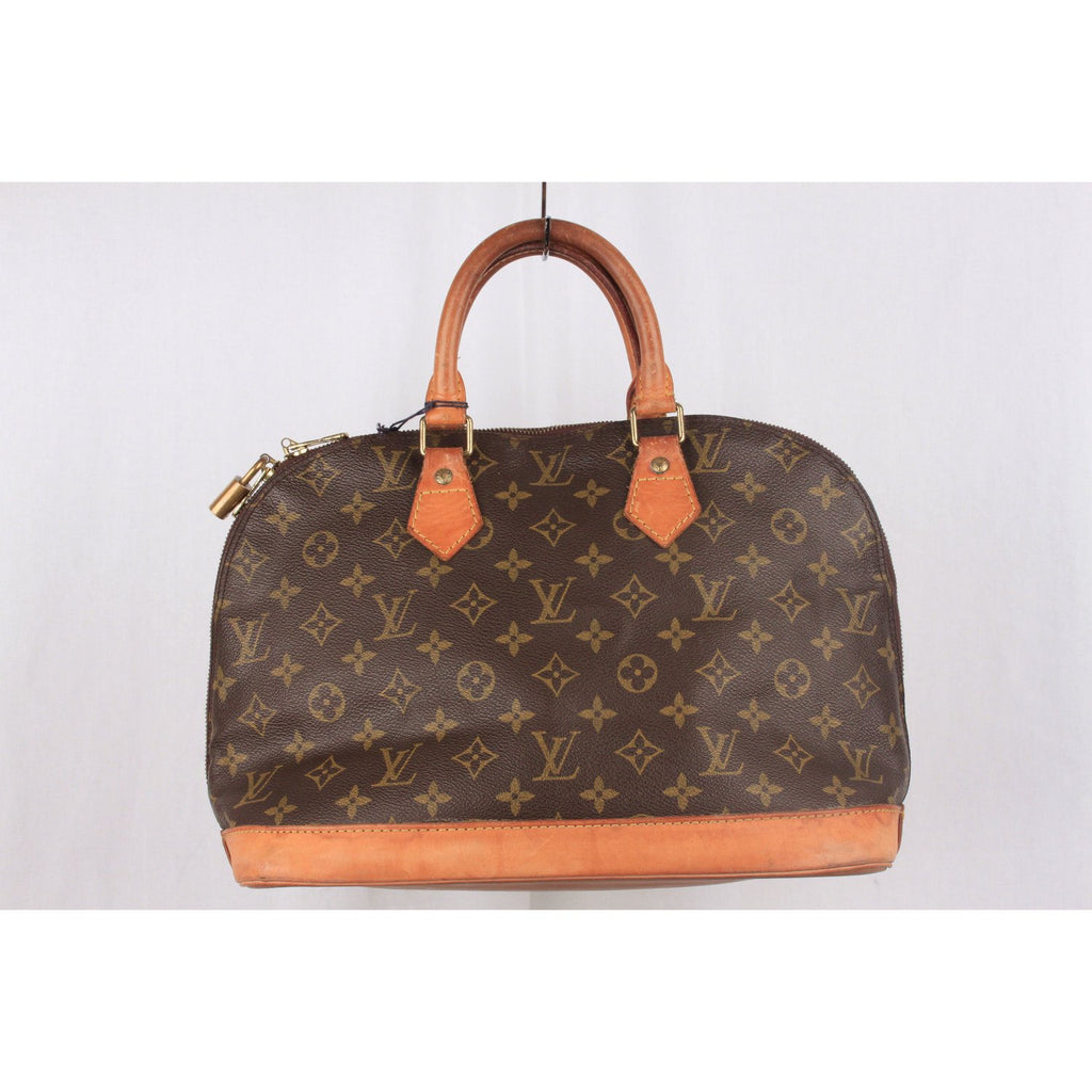 Vintage Brown Monogram Canvas Alma Bag