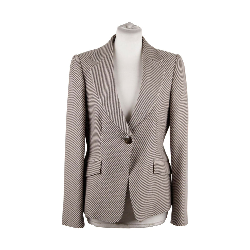 Striped Wool Cashmere Blazer Size 44