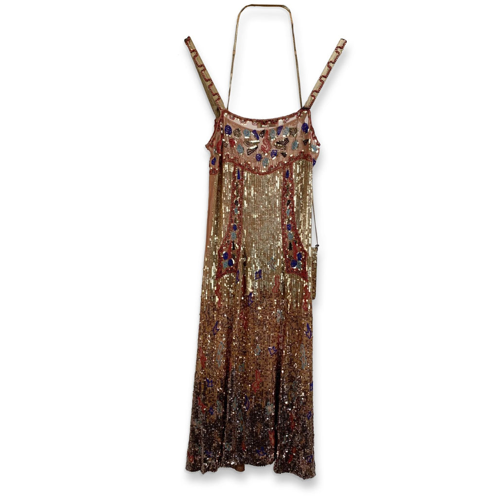 Blumarine Sequin Embellished Cami Dress Set with Bag Size 40 - OPHERTY & CIOCCI