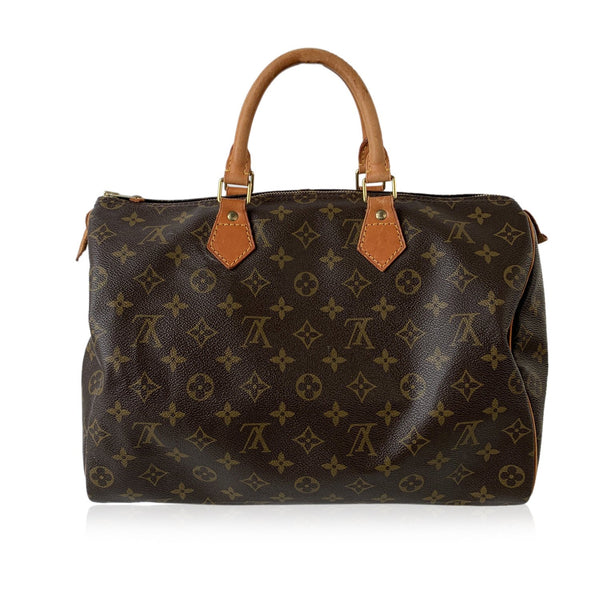 Louis Vuitton Vintage Monogram Canvas Handbag Speedy 35 Bag