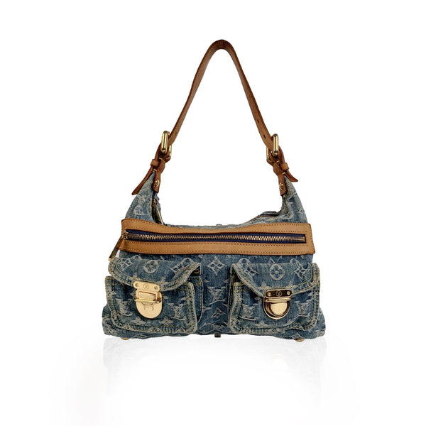 Louis Vuitton Blue Monogram Denim Baggy PM Shoulder Bag
