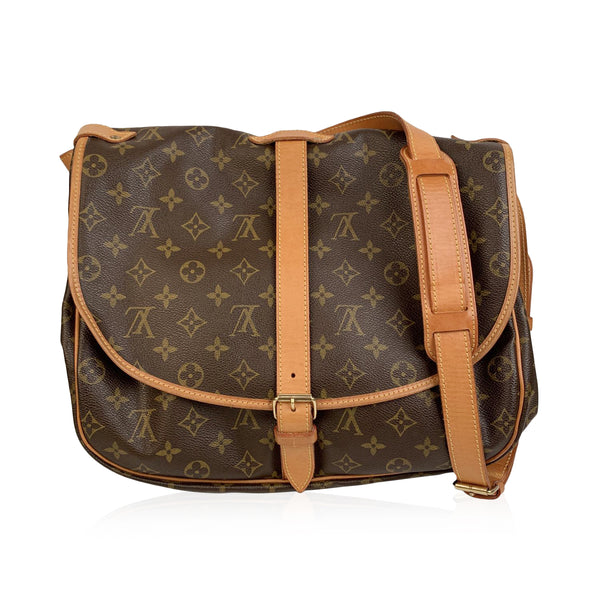Louis Vuitton Vintage Monogram Canvas Saumur 35 Crossbody Bag AR1924