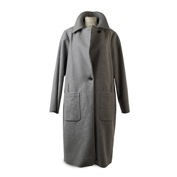 Maison Martin Margiela Gray Wool and Cashmere Oversized Coat Size 40