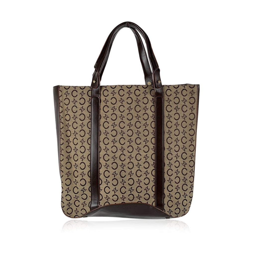 Celine Vintage Canvas Tote Shopping Bag