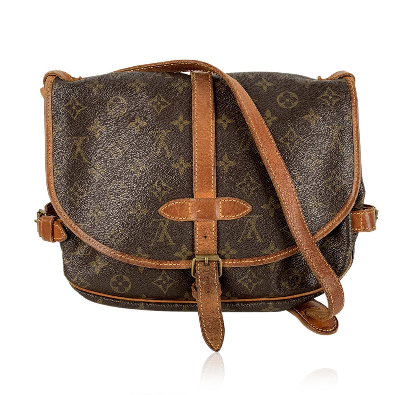 Louis Vuitton Louis Vuitton Vintage Monogram Canvas Saumur 30 Crossbody Shoulder Bag