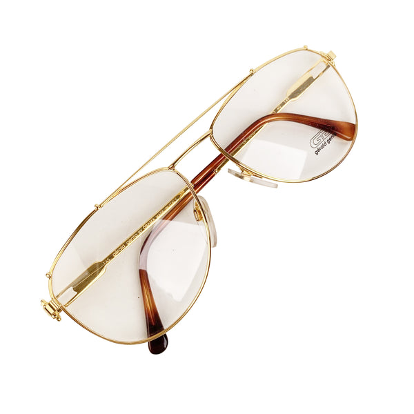 Gerald Genta Vintage Eyeglasses Gold and Gold Plated 03 AU 59-17 145mm