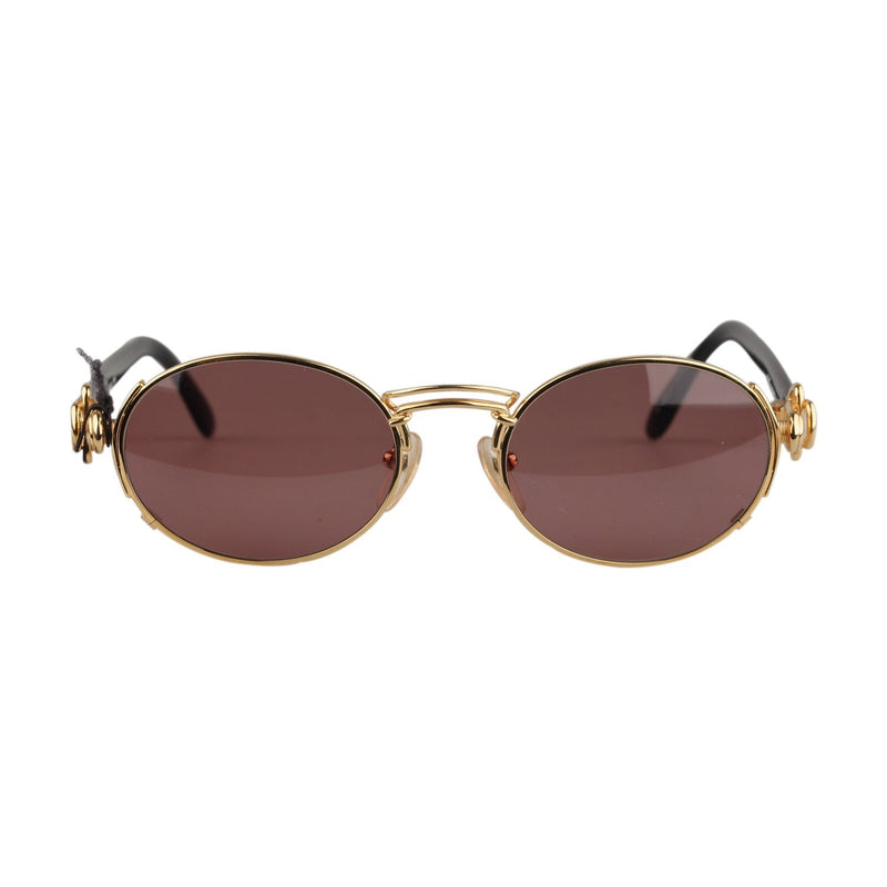 Jean Paul Gaultier Vintage Gold Oval Sunglasses 56-5203 130mm wide