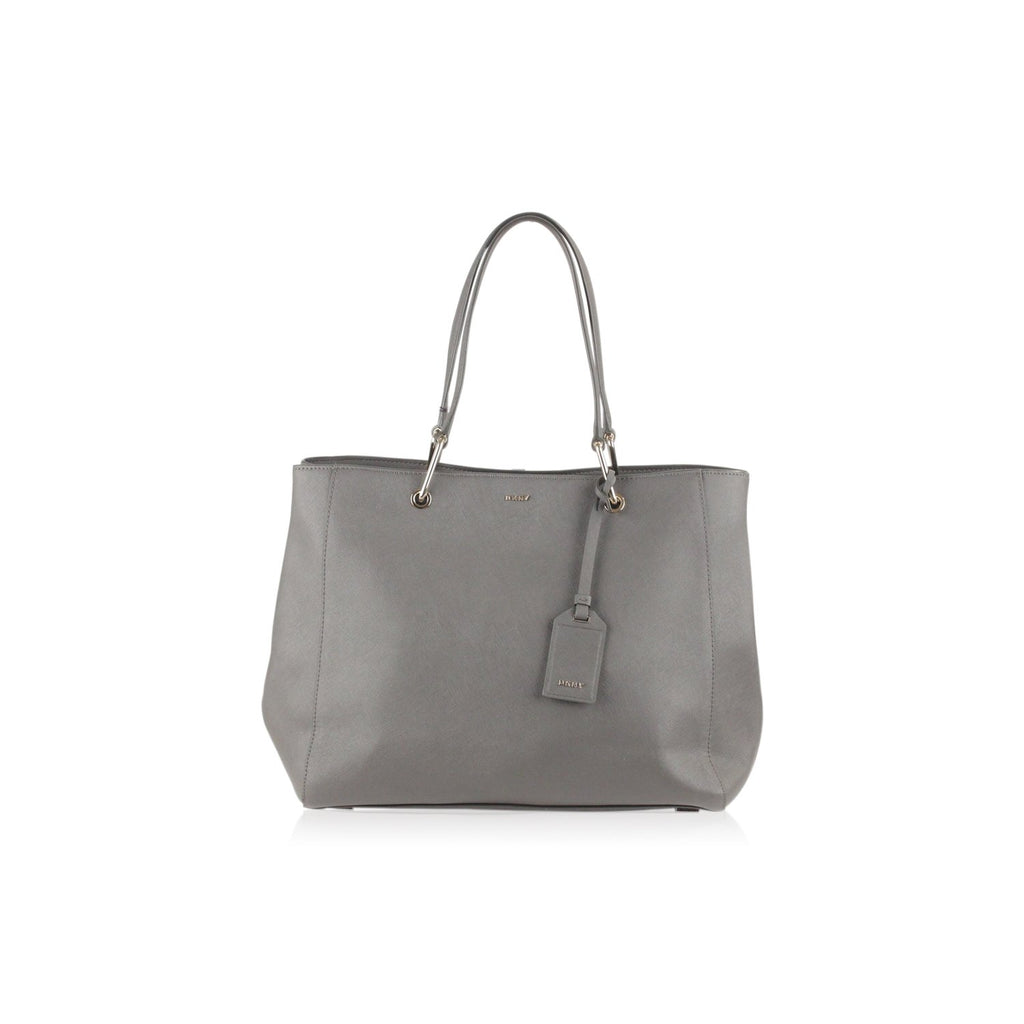 Donna Karan DKNY Gray Saffiano Leather Tote Bag - OPHERTY & CIOCCI