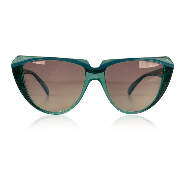Yves Saint Laurent Vintage Cat Eye Turquoise Sunglasses 8704 P 71