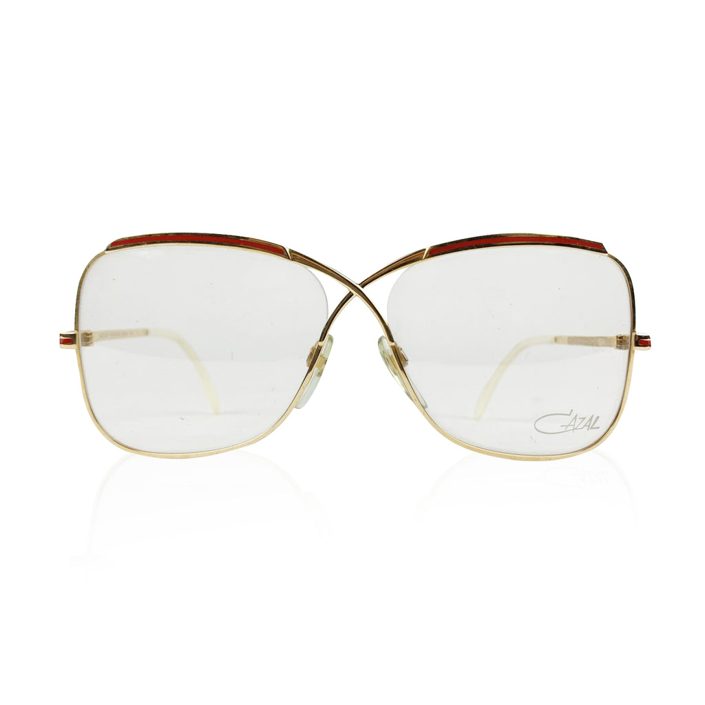 Cazal Vintage Eyeglasses 224 Red 57/14 130 mm West Germany