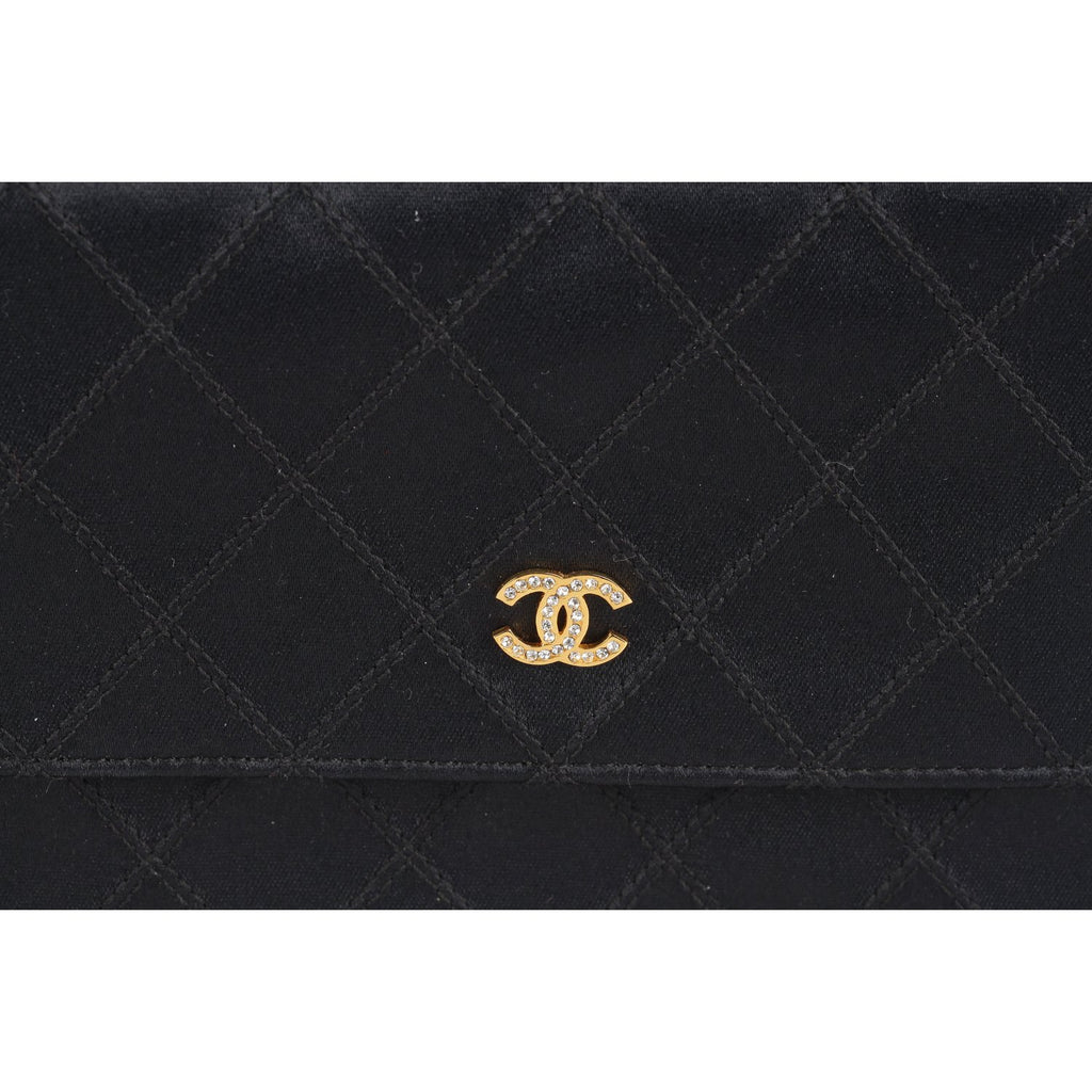 Chanel Vintage Satin Clutch Bag