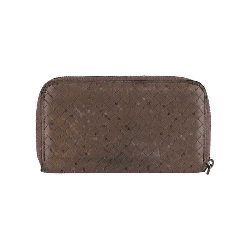 Bottega Veneta Intrecciato Zip Around Continental Wallet