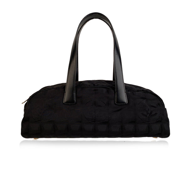 Chanel Black Nylon Travel Line Bassotto Top Handle Bag