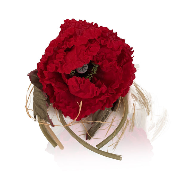 Dolce & Gabbana Silky Fabric Large Red Flower Pin Brooch - OPHERTY & CIOCCI