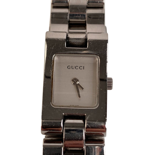 Gucci Gucci Stainless Steel Mod 2305L Wrist Watch White Dial