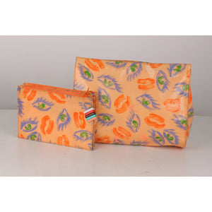 Vintage Set of 2 Cosmetic Bags Pouch