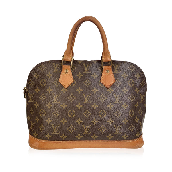 Louis Vuitton Vintage Monogram Canvas Alma Bag Satchel