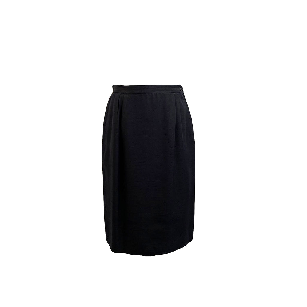Valentino Miss V Vintage Blue Straight Pencil Skirt Size 44