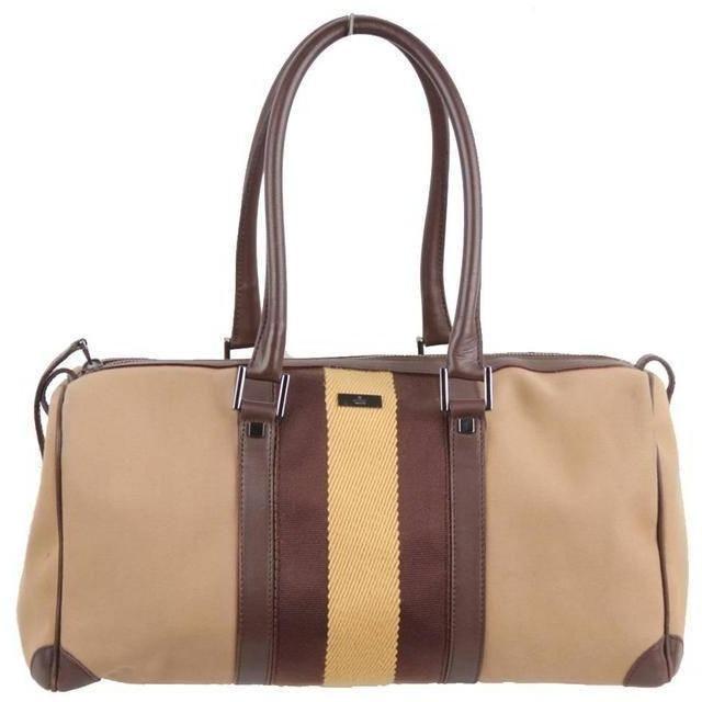 Boston Bag  with Striped Detail