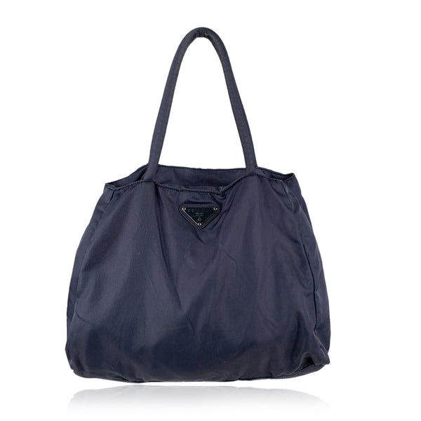 Prada Blue Denim Tessuto City Nylon Tote Shoulder Bag B3864