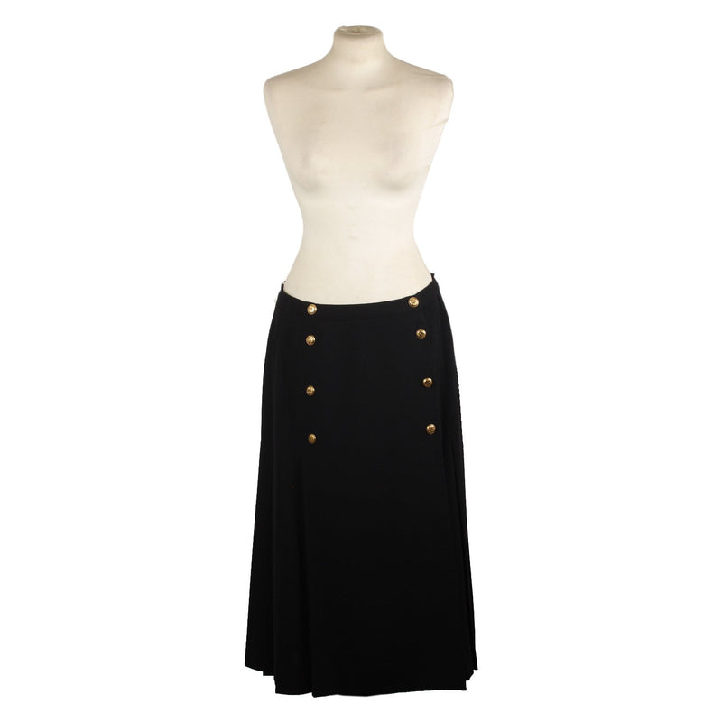 Chanel Vintage Pleated Full Skirt