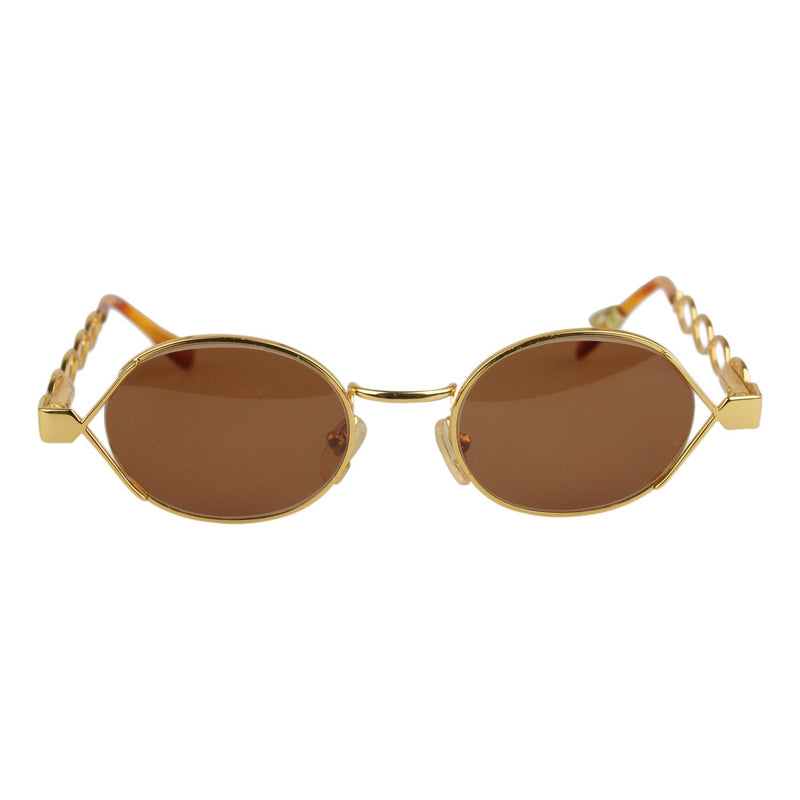 Moschino by Persol Vintage Round Gold Sunglasses MM344 46mm