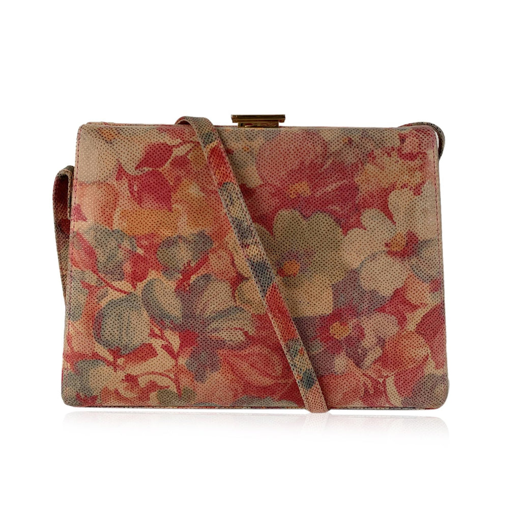 Stuart Weitzman Floral Box Crossbody Shoulder Bag