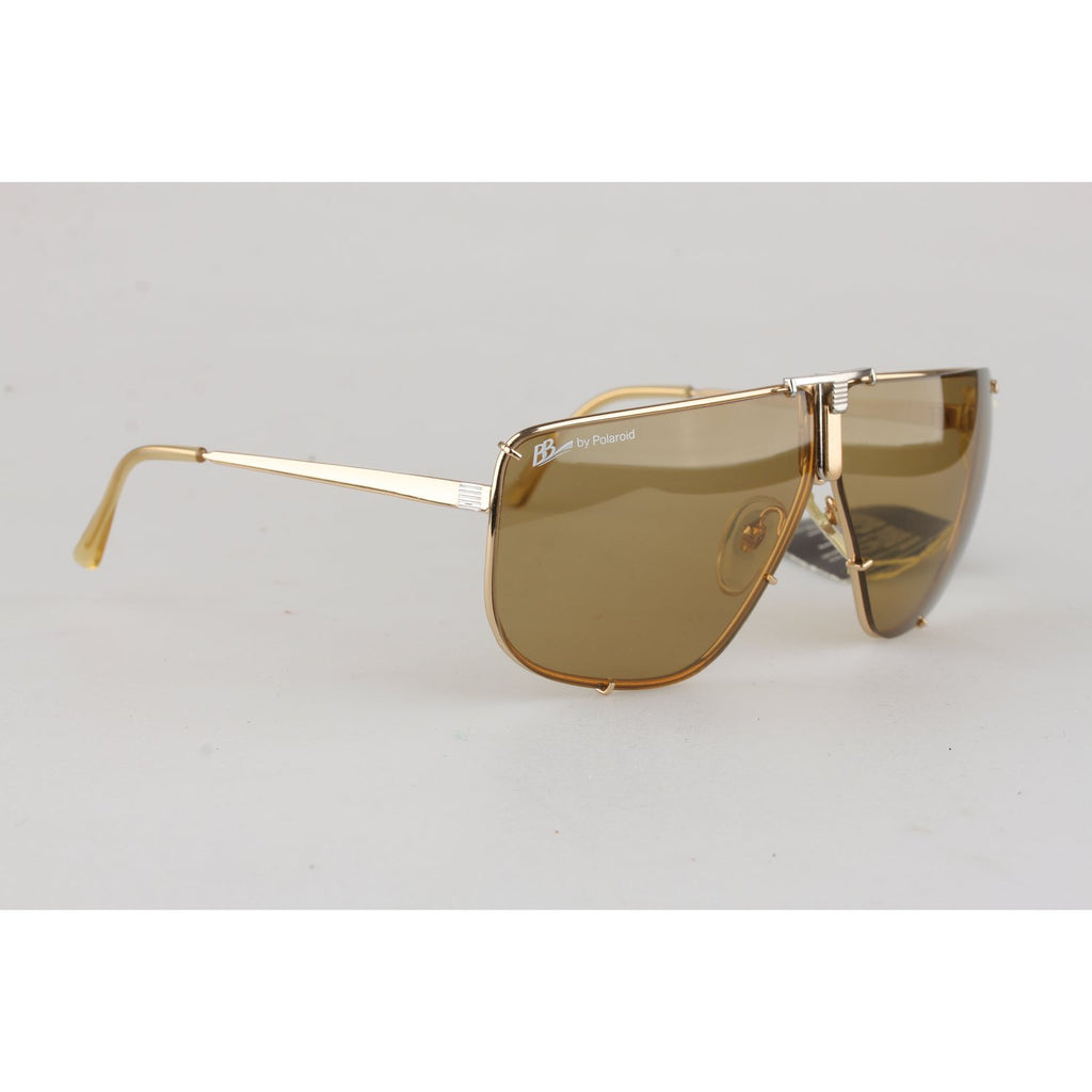 Boris Beker by Polarid Vintage Aviator Mens Gold Sunglasses 4804 A