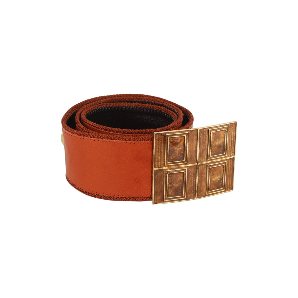 Christian Dior Vintage Studs Belt Enameled Buckle