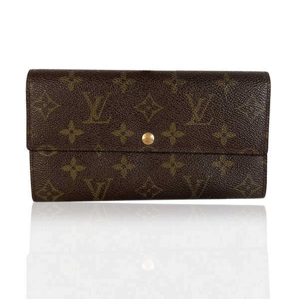 Louis Vuitton Monogram Brown Long Sarah Clutch Continental Wallet
