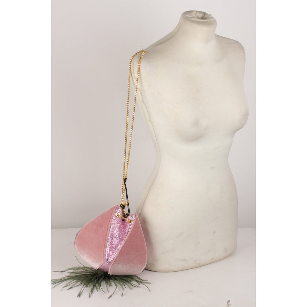 Cindy Feather Evening Bag Pink