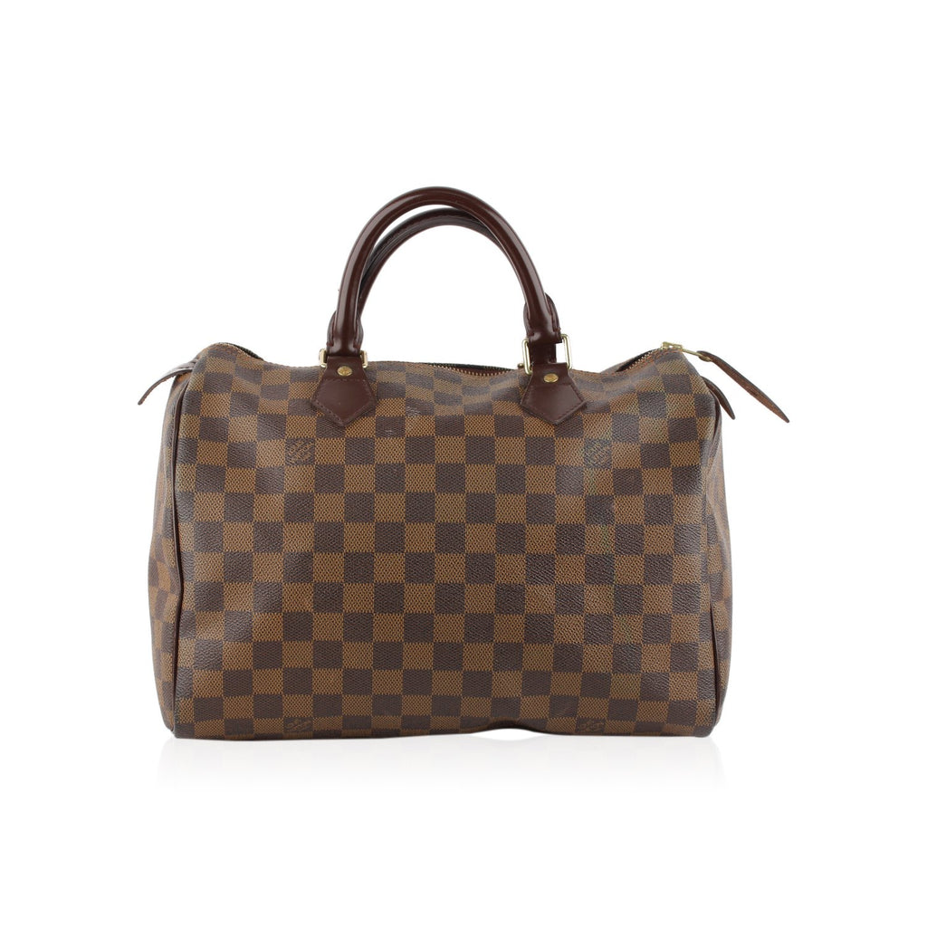 Louis Vuitton Damier Ebene Canvas Speedy 30 Bag