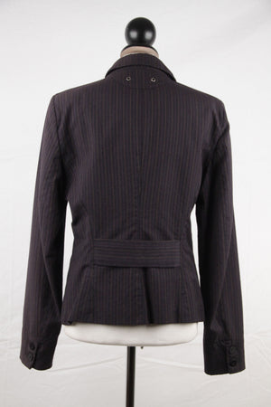 Blazer Pinstriped Jacket Size 44