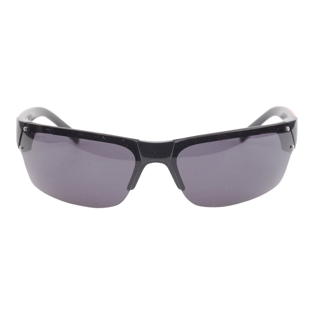Black Sport Half Rim Sunglasses